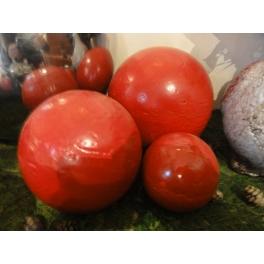Boule déco rouge, Terre cuite