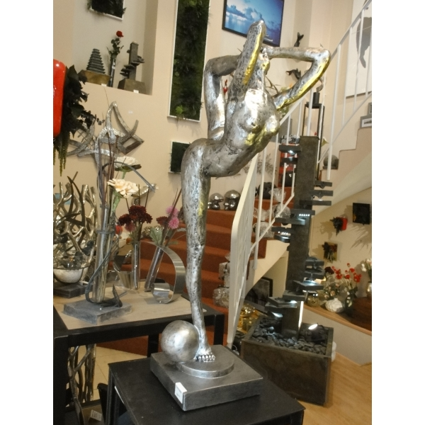 arqitecture yang sport statue gymnaste r sine argent d coration int rieur feng. Black Bedroom Furniture Sets. Home Design Ideas